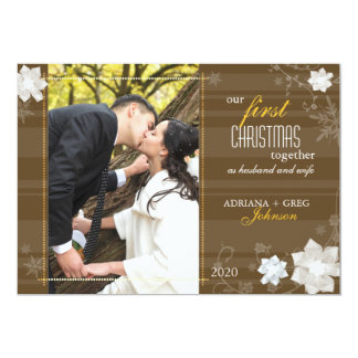 Graceful Our First Christmas Together Photo 13 Cm X 18 Cm Invitation Card