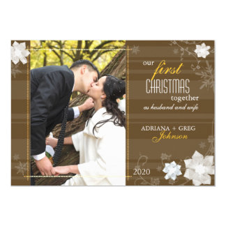 Graceful Our First Christmas Together Photo Cards 13 Cm X 18 Cm Invitation Card