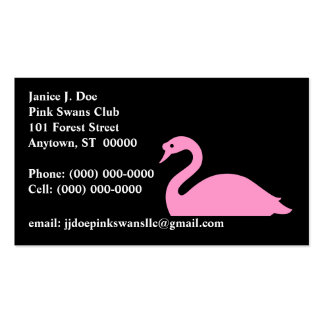 Graceful Pink Swan Front & Back ~ BUSINESS CARD