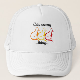 Graceful Sitting Kitties-Cats Are My Thing Trucker Hat