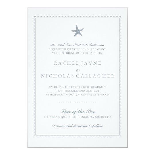 Graceful Starfish | Wedding Card