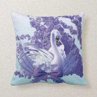 graceful swan cushion