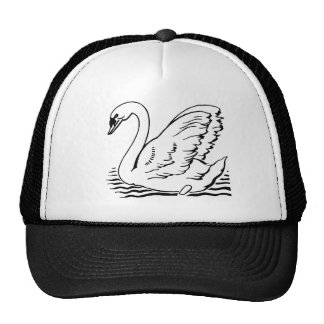 Graceful Swan Mesh Hats