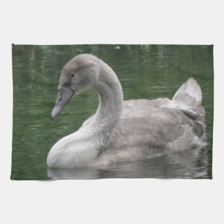 Graceful Swan on the Water Kitchen Towel