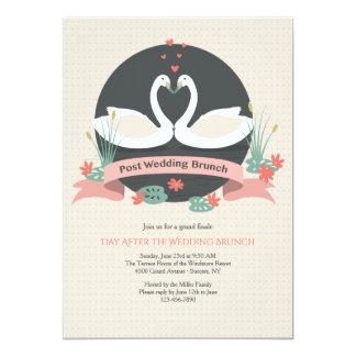 Graceful Swans Post Wedding Brunch Invitation