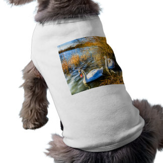 Graceful Swans Sleeveless Dog Shirt