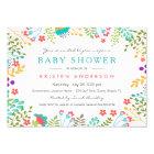 Graceful Tiffany Blue Floral Cute Baby Shower Card