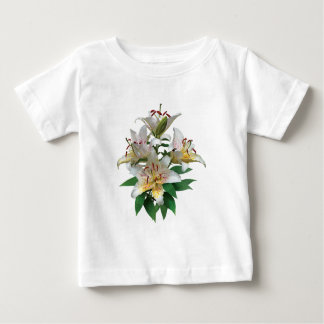 Graceful White Lilies Kids Baby T-Shirt