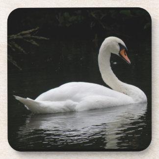 Graceful White Swan Cork Coaster