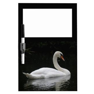Graceful White Swan Memo Board