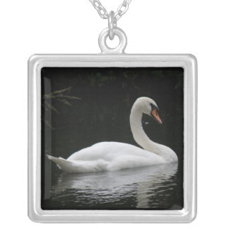 Graceful White Swan Necklace