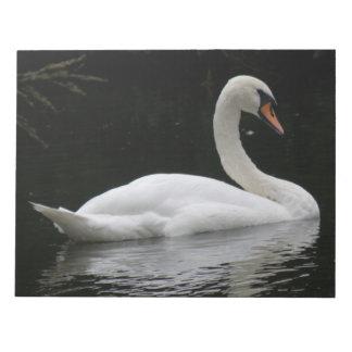 Graceful White Swan Notepad