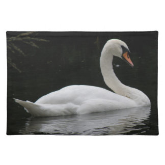 Graceful White Swan Placemat
