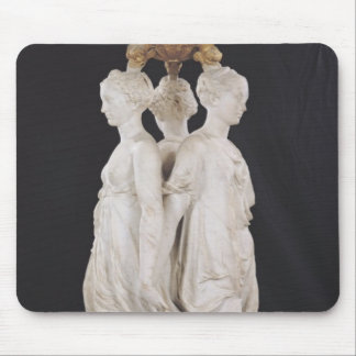 Graces, funerary monument with heart of Henri Mouse Mat