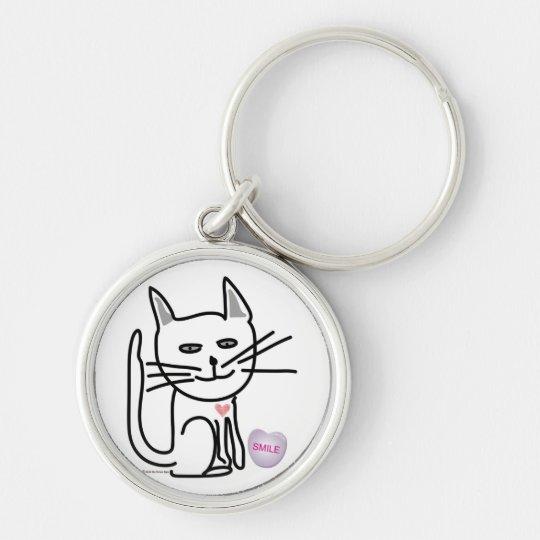 Graceys' Valentine Happy Cat Key Chain