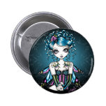Gracie Gothic Couture Fairy 6 Cm Round Badge
