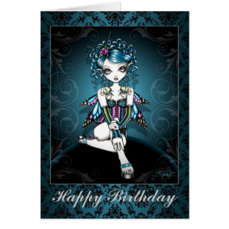 """Gracie"" Gothic Couture Swallow Fairy Card"