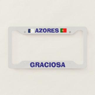 Graciosa Azores Custom License Plate Frame