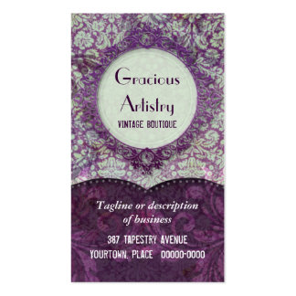 Gracious Damask Business Cards