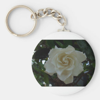 Gracious Gardenia Basic Round Button Key Ring