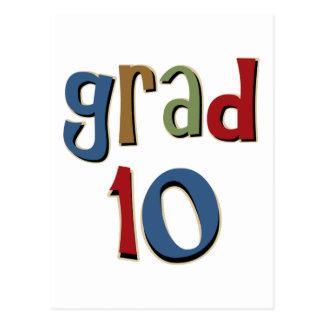 Grad 10 post card
