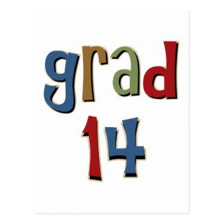 Grad 14 post card