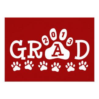 GRAD 2013 PAWS PERSONALIZED INVITATIONS
