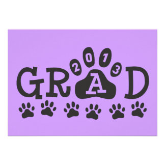 GRAD 2013 PAWS PERSONALIZED ANNOUNCEMENTS