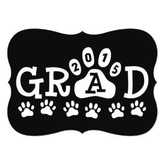 GRAD 2015 Invitations Black Paws Graduation