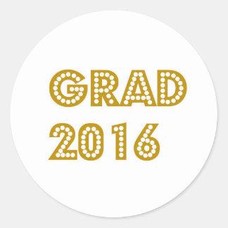 Grad 2016 round sticker