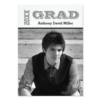 Grad Black/White - Graduation Announcement
