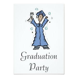 Grad Boy Happy 13 Cm X 18 Cm Invitation Card