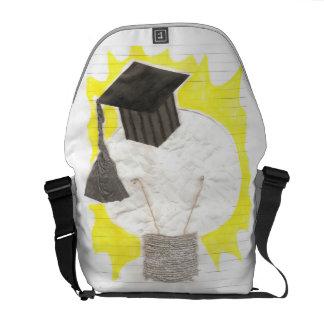 Grad Bulb With Background Rusksack Messenger Bag