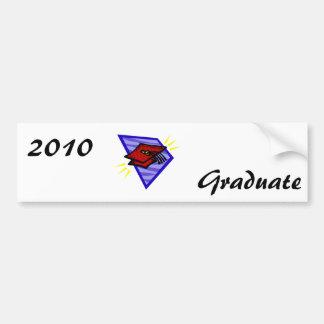 Grad Cap Bumper Sticker