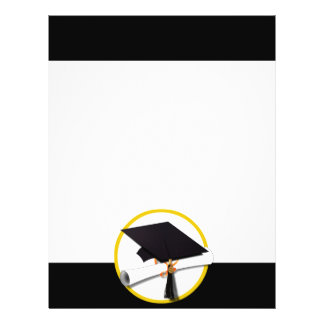 Grad Cap & Diploma - Black Background 21.5 Cm X 28 Cm Flyer