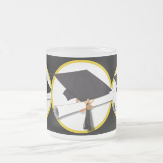 Grad Cap & Diploma - Black Background Mug