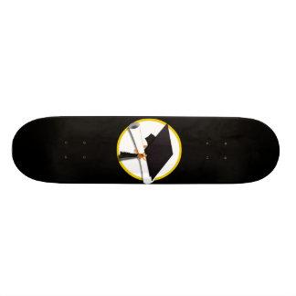 Grad Cap & Diploma - Black Background Skateboards