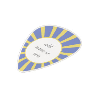 Grad Cap & Diploma w/ School Colors Blue and Gold Polycarbonate Guitar Pick
