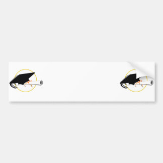Grad Cap Tilt  (Add Background Color) Bumper Sticker