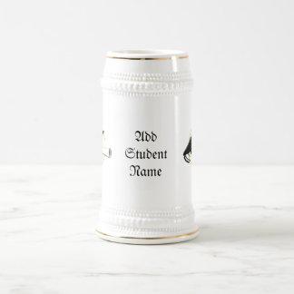 Grad Cap Tilt  (Add Background Color) 18 Oz Beer Stein