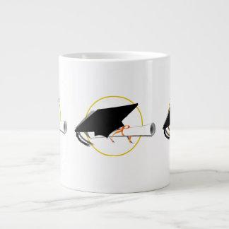 Grad Cap Tilt Add Background Color Extra Large Mug
