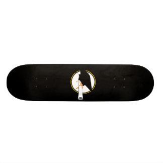 Grad Cap Tilt on Black Background Skate Board Deck