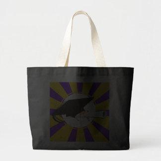 Grad Cap Tilt w/ Diploma & Purple & Gold Colors Jumbo Tote Bag