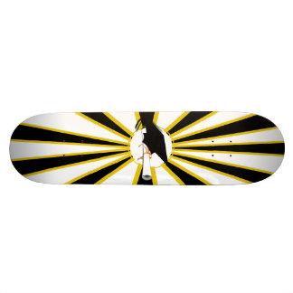 Grad Cap Tilt w/ School Colors Black and Gold Skateboards