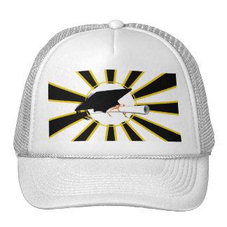Grad Cap Tilt w/ School Colors Black & Gold Hat