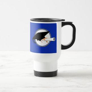 Grad Cap Tilt w School Colors Blue And Gold Coffee Mugs