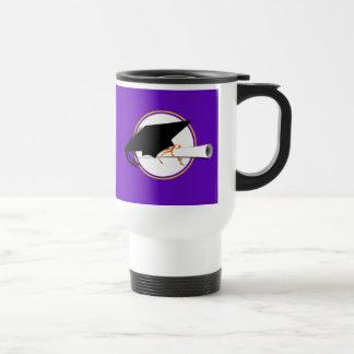 Grad Cap Tilt w/ School Colors Purple And Gold Coffee Mug