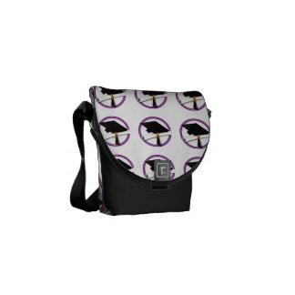 Grad Cap w/Diploma - School Colors Purple & Gold Commuter Bag