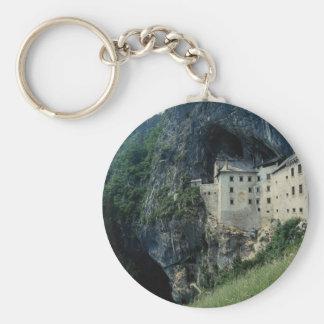Grad Castle, Predjamski, Slovenia Basic Round Button Key Ring