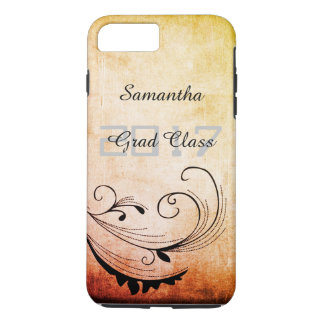 Grad Class 2017 with Your Name - iPhone 7 Plus Case